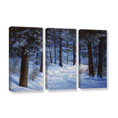 Brushtone Forest Road 3-pc. Gallery Wrapped CanvasWall Art