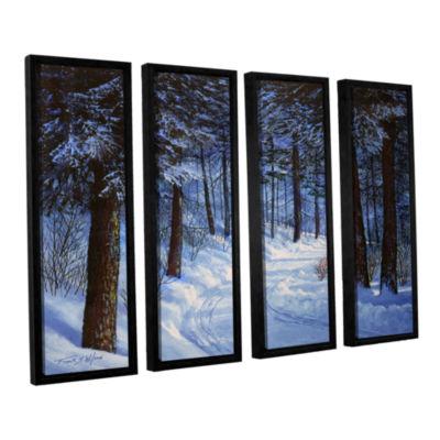Brushtone Forest Road 4-pc. Floater Framed CanvasWall Art