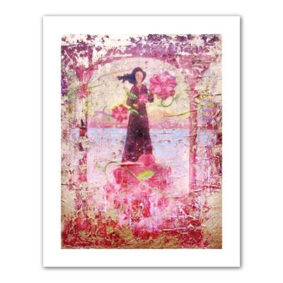 Brushtone Flower Happy Canvas Wall Art