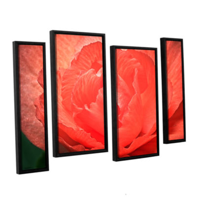 Brushtone Flower Petals 4-pc. Floater Framed Staggered Canvas Wall Art