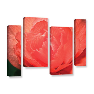 Brushtone Flower Petals 4-pc. Gallery Wrapped Staggered Canvas Wall Art