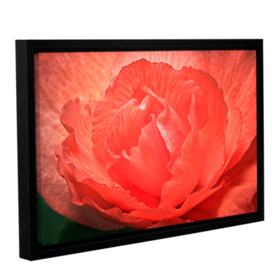 Brushtone Flower Petals Gallery Wrapped Floater-Framed Canvas Wall Art
