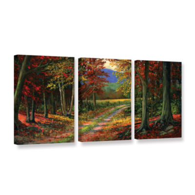 Brushtone Forgotten Road 3-pc. Gallery Wrapped Canvas Wall Art