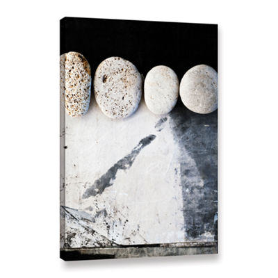 Brushtone Four Stones Gallery Wrapped Canvas WallArt