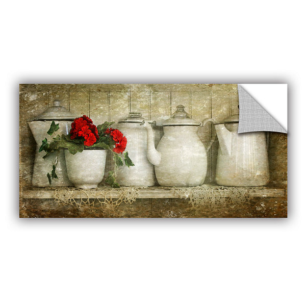 Brushtone Flower With Pots Removable Wall Decal