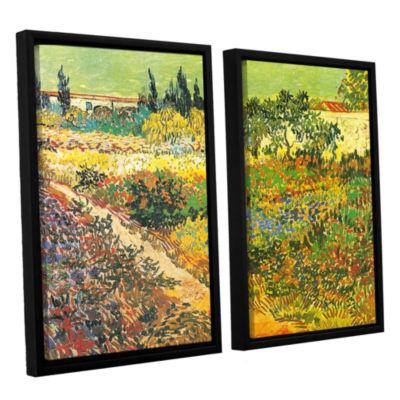 Brushtone Flowering Garden 2-pc. Floater Framed Canvas Wall Art