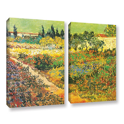 Brushtone Flowering Garden 2-pc. Gallery Wrapped Canvas Wall Art