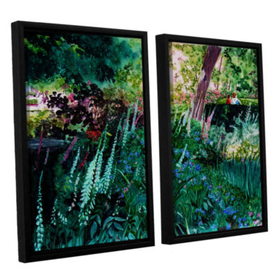 Brushtone Foxgloves At Mill Creek 2-pc. Floater Framed Canvas Wall Art