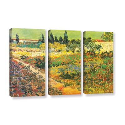 Brushtone Flowering Garden 3-pc. Gallery Wrapped Canvas Wall Art