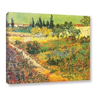 Brushtone Flowering Garden Gallery Wrapped CanvasWall Art