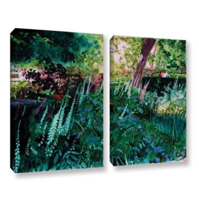 Brushtone Foxgloves At Mill Creek 2-pc. Gallery Wrapped Canvas Wall Art