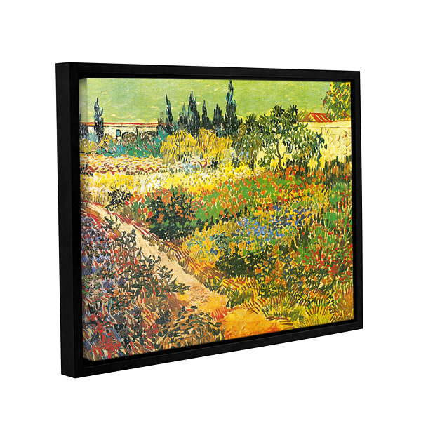 Brushtone Flowering Garden Gallery Wrapped Floater-Framed Canvas Wall Art