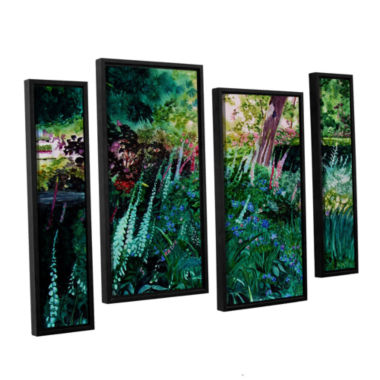 Brushtone Foxgloves At Mill Creek 4-pc. Floater Framed Staggered Canvas Wall Art