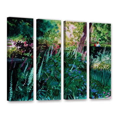 Brushtone Foxgloves At Mill Creek 4-pc. Gallery Wrapped Canvas Wall Art