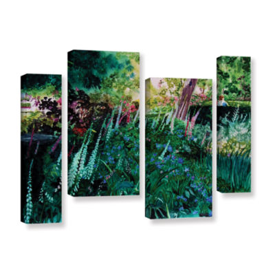 Brushtone Foxgloves At Mill Creek 4-pc. Gallery Wrapped Staggered Canvas Wall Art