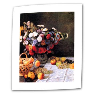 Brushtone Flowers And Fruit Canvas Wall Art