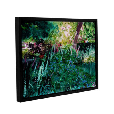 Brushtone Foxgloves At Mill Creek Gallery WrappedFloater-Framed Canvas Wall Art