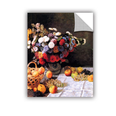 Brushtone Flowers And Fruit Removable Wall Decal