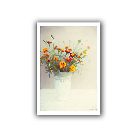 Brushtone Flowers Classical Vase Canvas Wall Art