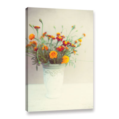 Brushtone Flowers Classical Vase Gallery Wrapped Canvas Wall Art