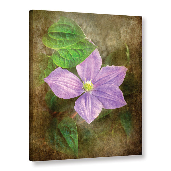 Brushtone Flowers In Focus 2 Gallery Wrapped Canvas Wall Art