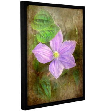 Brushtone Flowers In Focus 2 Gallery Wrapped Floater-Framed Canvas Wall Art