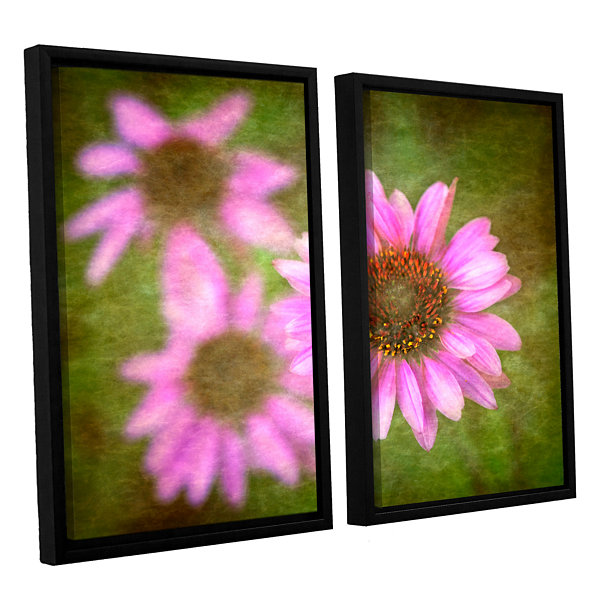 Brushtone Flowers In Focus 3 2-pc. Floater FramedCanvas Wall Art