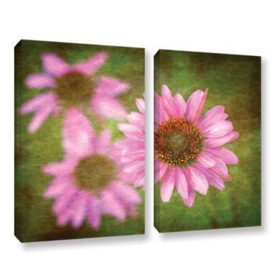Brushtone Flowers In Focus 3 2-pc. Gallery WrappedCanvas Wall Art