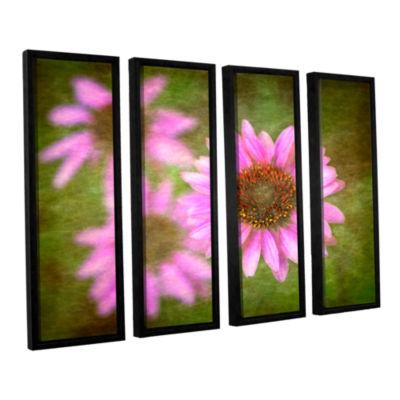 Brushtone Flowers In Focus 3 4-pc. Floater FramedCanvas Wall Art