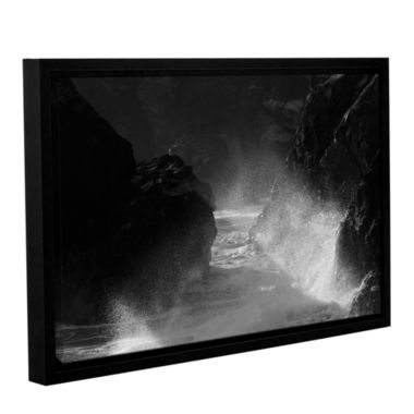 Brushtone Fragments 2 Gallery Wrapped Floater-Framed Canvas Wall Art