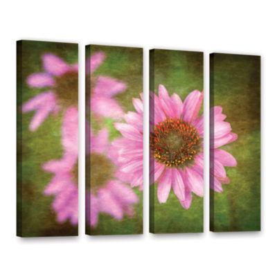 Brushtone Flowers In Focus 3 4-pc. Gallery WrappedCanvas Wall Art