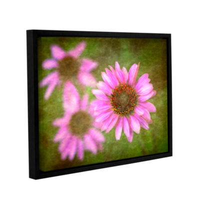 Brushtone Flowers In Focus 3 Gallery Wrapped Floater-Framed Canvas Wall Art