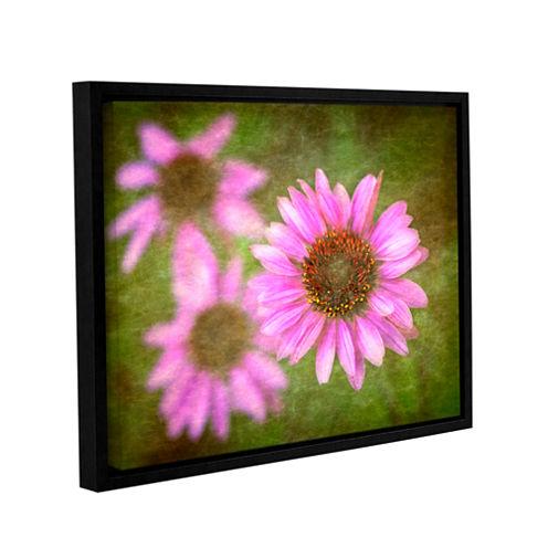 Brushtone Flowers In Focus 3 Gallery Wrapped Floater-Framed Canvas Wall Art