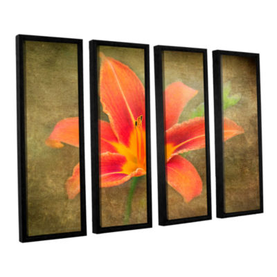 Brushtone Flowers In Focus 4 4-pc. Floater FramedCanvas Wall Art