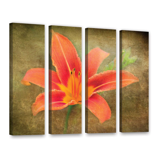 Brushtone Flowers In Focus 4 4-pc. Gallery WrappedCanvas Wall Art