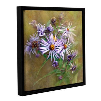 Brushtone Flowers In Focus 6 Gallery Wrapped Floater-Framed Canvas Wall Art