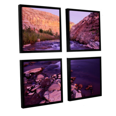 Brushtone Fremont River Dawn 4-pc. Square FloaterFramed Canvas Wall Art