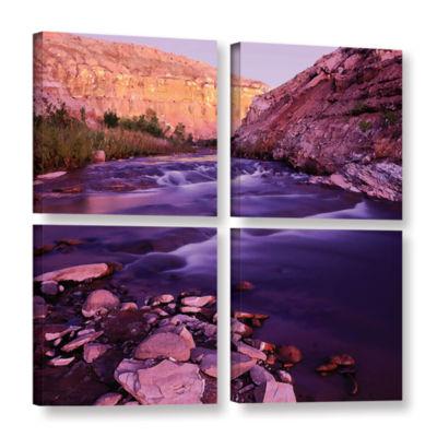 Brushtone Fremont River Dawn 4-pc. Square GalleryWrapped Canvas Wall Art