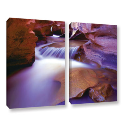 Brushtone Fremont River Slot 2-pc. Gallery WrappedCanvas Wall Art