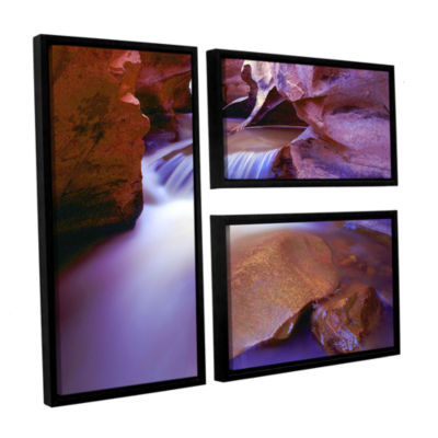 Brushtone Fremont River Slot 3-pc. Flag Floater Framed Canvas Wall Art