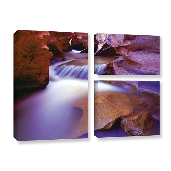 Brushtone Fremont River Slot 3-pc. Flag Gallery Wrapped Canvas Wall Art