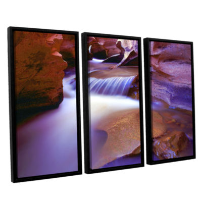 Brushtone Fremont River Slot 3-pc. Floater FramedCanvas Wall Art