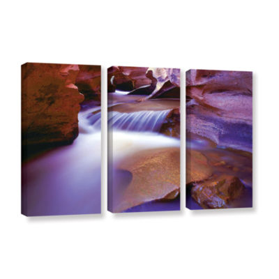 Brushtone Fremont River Slot 3-pc. Gallery WrappedCanvas Wall Art