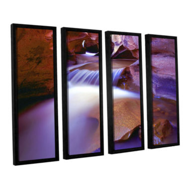 Brushtone Fremont River Slot 4-pc. Floater FramedCanvas Wall Art