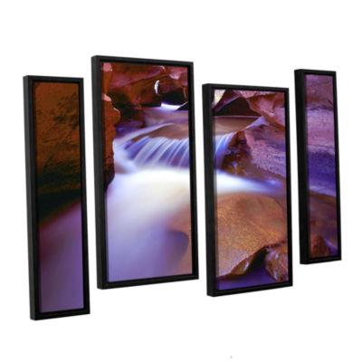 Brushtone Fremont River Slot 4-pc. Floater FramedStaggered Canvas Wall Art