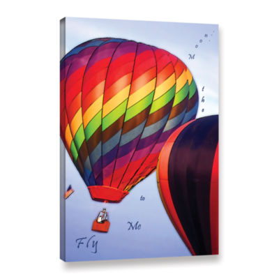 Brushtone Fly Me To The Moon Gallery Wrapped Canvas Wall Art
