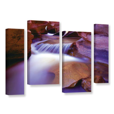 Brushtone Fremont River Slot 4-pc. Gallery WrappedStaggered Canvas Wall Art