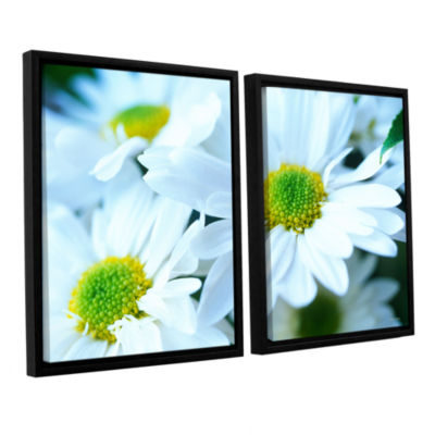 Brushtone Fresh Daisies 2-pc. Floater Framed Canvas Wall Art