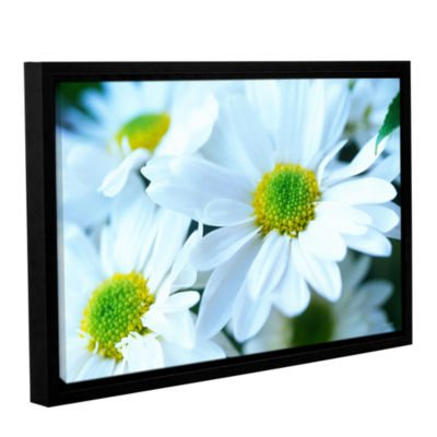 Brushtone Fresh Daisies Gallery Wrapped Floater-Framed Canvas Wall Art