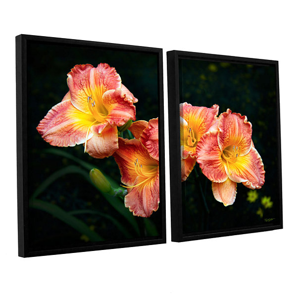 Brushtone Fresh Flowers 2-pc. Floater Framed Canvas Wall Art